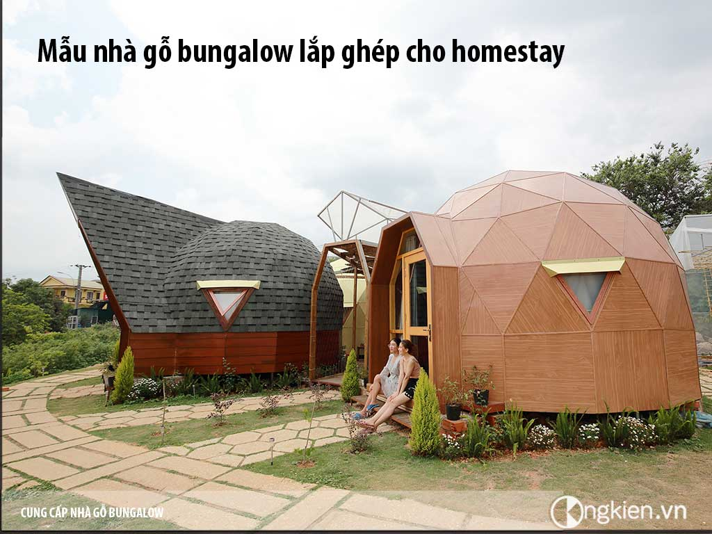 Nhà gỗ lắp ghép cho homestay