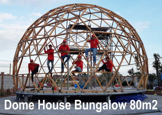 Thi công Dome House Bungalow 80m2