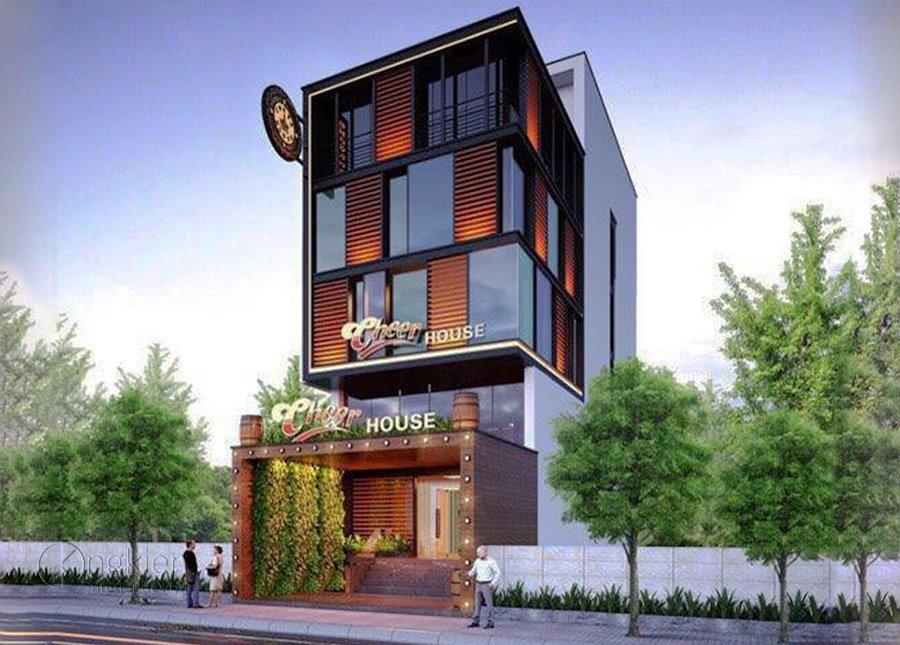 Thiết kế ngoại thất nhà hàng hầm rượu Cheer House
