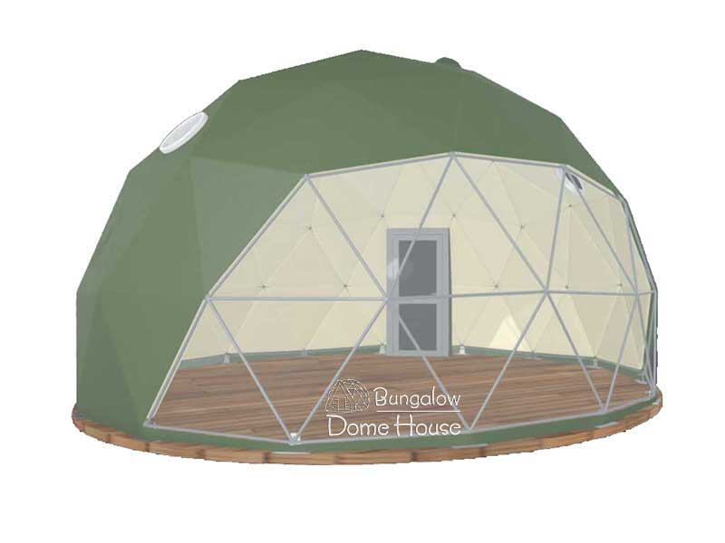 Dome House xanh olive