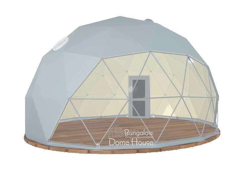 Dome House với phủ bạt màu xám