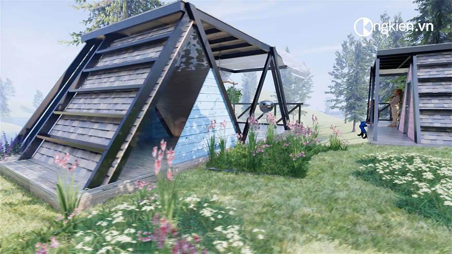 Mẫu thiết kế bungalow 1 tầng đẹp