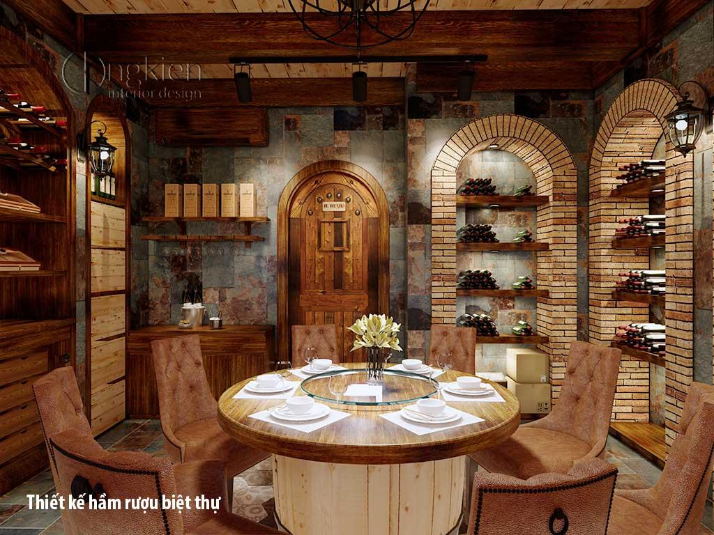 Thiết kế hầm rượu biệt thự đẹp