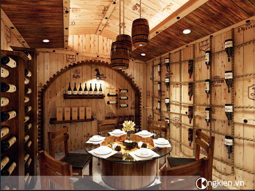 Thiết kế hầm rượu Ốc Lúa