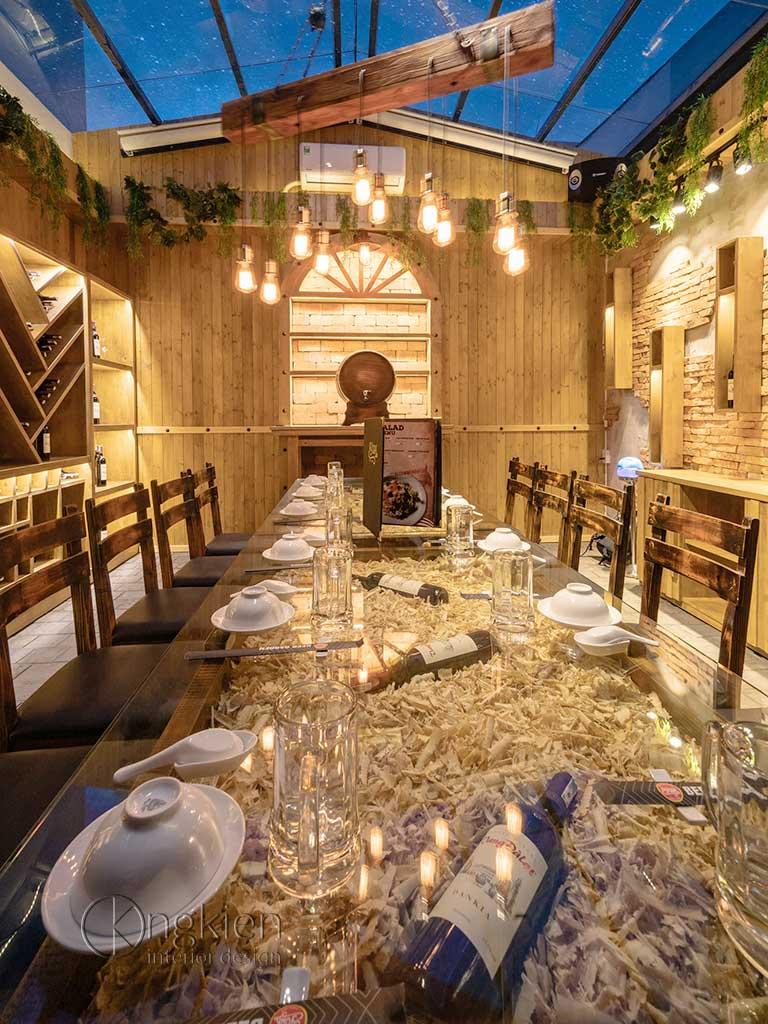 hoàn thiện hầm rượu York Garden
